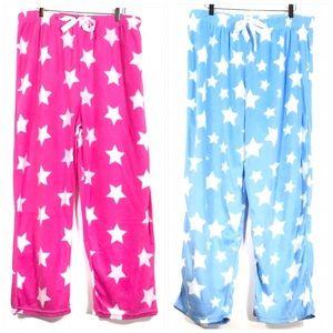 2 Pairs of New with Tag Fleece Pajama Pants 2X